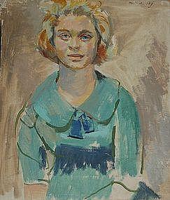 SAUL LISHINSKY, PORTRAIT OF A YOUNG WOMAN