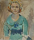 SAUL LISHINSKY, PORTRAIT OF A YOUNG WOMAN