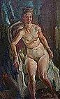 "VINCENT NESBERT, ""NUDE"", CIRCA 1950"
