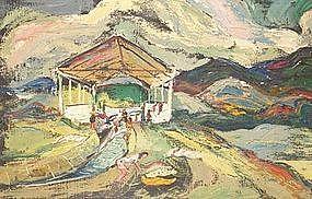 "MORTON BIRKIN, ""TROPICAL LANDSCAPE"", 1950"