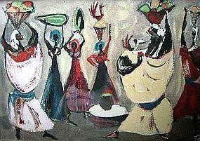 "ADOLF DEHN, ""HAITI #7"", ORIGINAL GOUACHE CIRCA 1949"