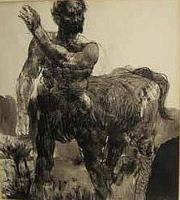 DAVID BUMBECK, CENTAUR, INK AND WASH, 1965