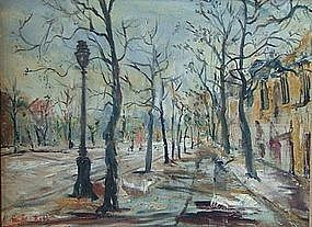 RUBI ROTH, STREET SCENE, CIRCA 1950