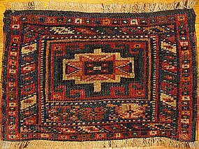 ANTIQUE KURD BAG FACE, NW PERSIA, MEMLING GUL