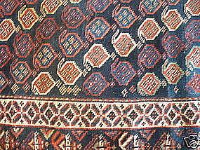 ANTIQUE LURI LONG RUG, SW PERSIA, CIRCA 1890