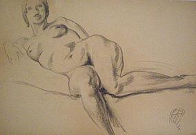 "HENRI GEORGE KELLER, ""NUDE STUDY"", CIRCA 1920"