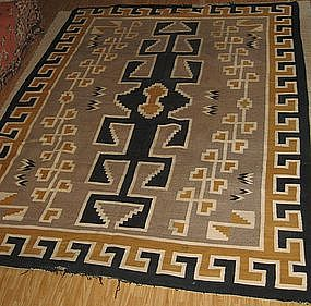 ANTIQUE OVERSIZE NAVAJO RUG