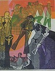 "WARRINGTON COLESCOTT, ""WILD WESTERN"", ORIGINAL INTAGLIO"