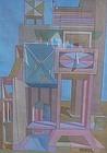 """JOSEPH AMAROTICO, """"CASTLE #1"""", ORIGINAL GOUACHE, 1964"""