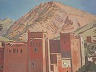 MARCEL BUSSON, CASBAH IN THE HIGH ATLAS, MOROCCO