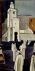 """ELIOT O'HARA, ORIGINAL WATERCOLOR, """"STREET IN ALGERS"""""""