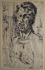BOB WHITE, IOWA, SELF-PORTRAIT, 1960