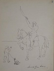 (SAMUEL) WOOD GAYLOR, CHILD AND HORSEMAN
