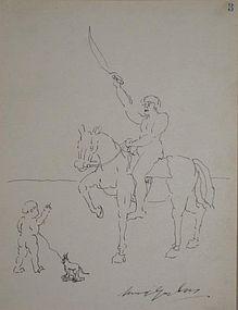 (SAMUEL) WOOD GAYLOR, CHILD AND HORSEMAN