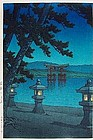 HASUI KAWASE, NIGHT SCENE AT MIYAJIMA SHRINE, 6mm