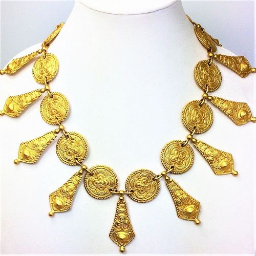 Genny, Italy Etruscan  Revival Necklace