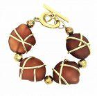 Francisca Flores Gold Tone & Molded Resin Bracelet