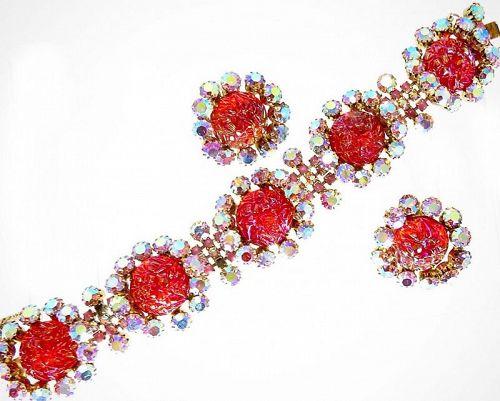 Rare Schiaparelli Bracelet and  Earrings