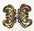 Large Yves Saint Laurent Unisex Art Nouveau Style Belt Buckle