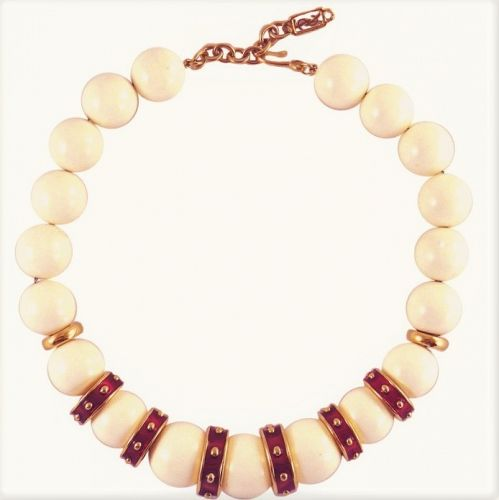 Yves Saint Laurent Chunky Bead Necklace