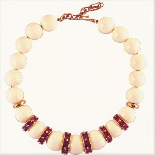 Yves Saint Laurent Chunky Bead Necklace