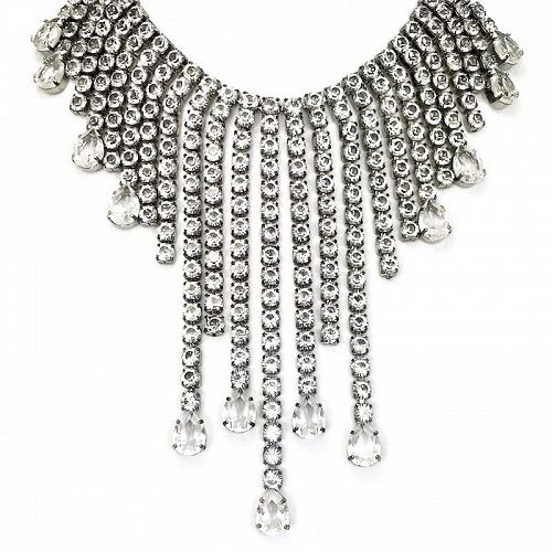 Thierry Mugler Runway Festoon Rhinestone Necklace