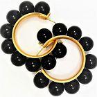 Rada, Italy  Imposing Pierced Hoop Earrings