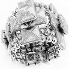 Massive William DeLillo Cuff Bracelet
