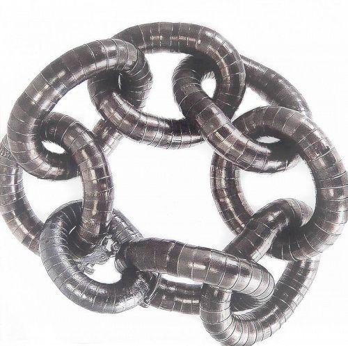 Sensuous Yves Saint Laurent Gun Metal  Link Bracelet