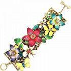 Betsey Johnson Flower Bracelet