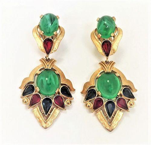 Trifari Second Generation �Jewels of India� Moghul Earrings