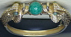 Two-headed fish bracelet  jade accents-unsigned beauty