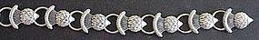 Danecraft sterling thistle link bracelet -1940s