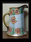 Limoges  Hand Painted & Signed Pitcher (Guerin)