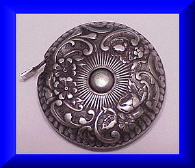 Gorham Sterling repousse tape measure #18