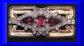 Mc Clelland Barclay brooch ( Art Deco)ruby red