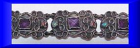 Matilde Eugenia Poulat style sterling bracelet + stones