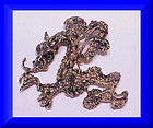 Cyvra figural dragon brooch pendant -1964- large