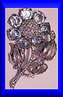 Reja sterling aquamarine colored floral brooch