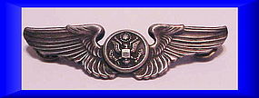 USAF Air Force air crew wings hat pin  3""