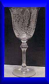 "Tiffin ""June Night""  no trim water goblet 10 oz"