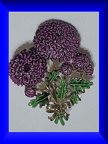 Exquisite Chrysanthemum birthday brooch -November