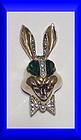 Karu Fifth Avenue whimsical smiling rabbit brooch
