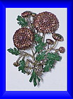 Exquisite gold chrysanthemum birthday brooch-November