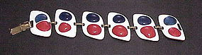 Kay Denning red,white and blue enamel bracelet