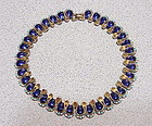 Boucher enamel deco necklace 16""