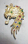 Coro fire breathing dragon brooch