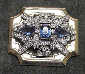 McClelland Barclay Deco cobalt  brooch