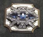 McClelland Barclay Deco cobalt  brooch