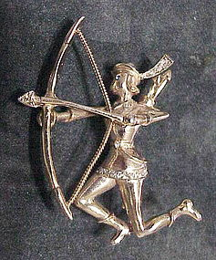 "Coro Adolph Katz ""Robin Hood"" archer brooch"